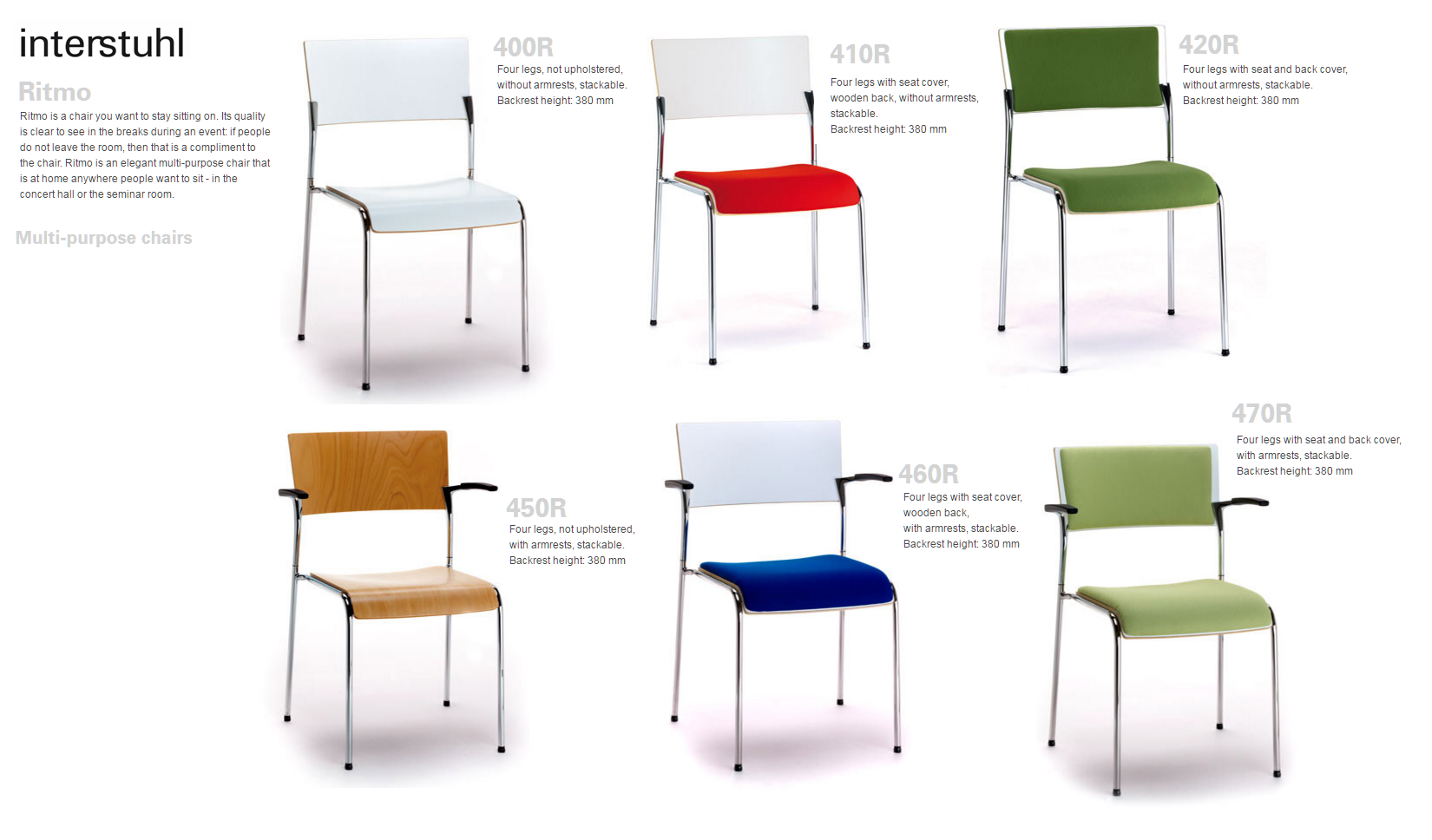 RITMO MULTI PURPOSE CHAIRS