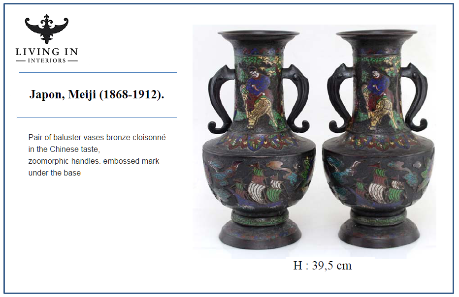 pair baluster vase japon