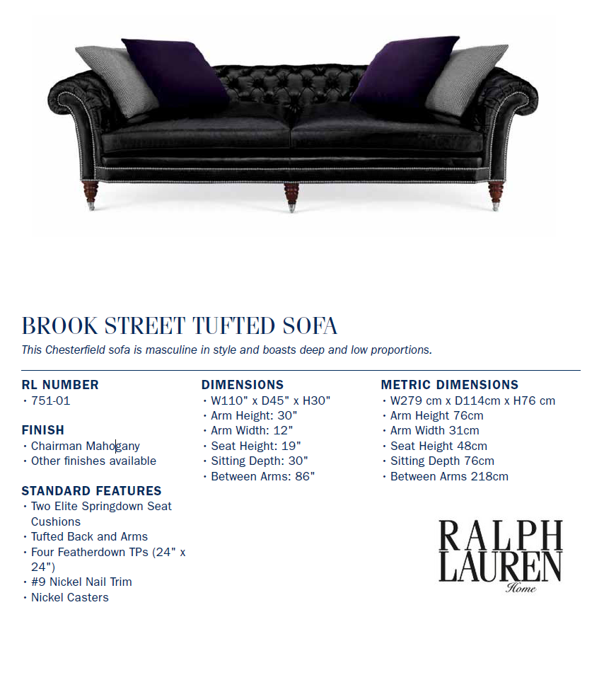 751-01  Brook Street Tufted Sofa