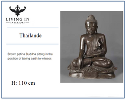 BROWN PATINA BUDDHA THAILAND