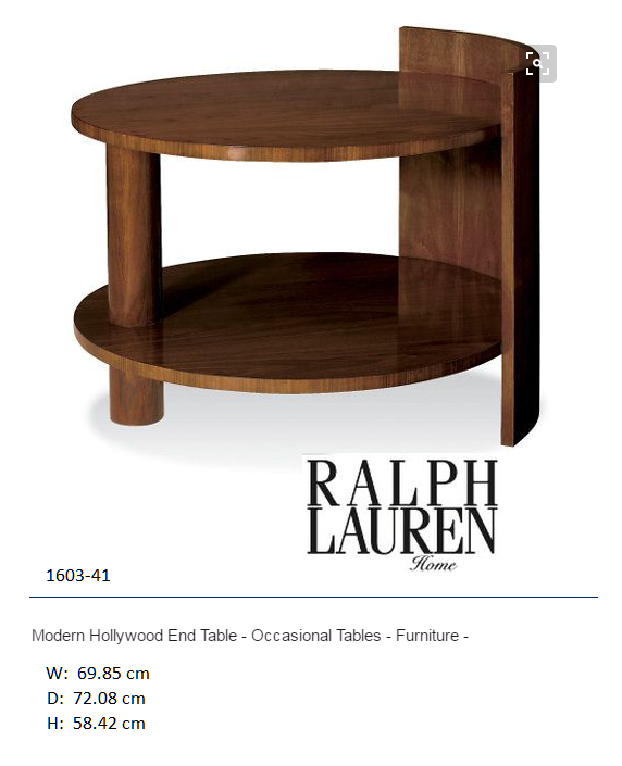 1603-41 Modern Hollywood End Table