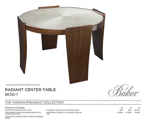 Baker, RADIANT CENTER TABLE