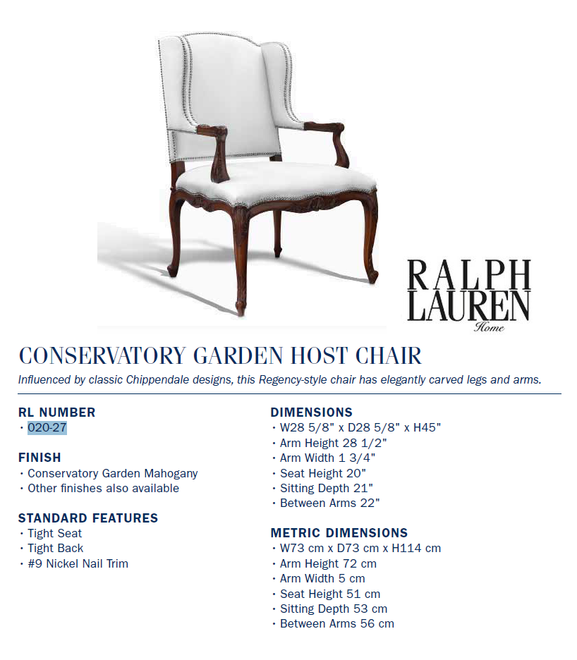 020-27 conservatory garden host chair