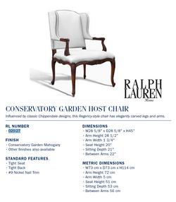 020-27 conservatory garden host chair