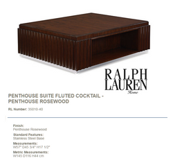 35010-40 PENTHOUSE SUITE FLUTED COCKTAIL - PENTHOUSE ROSEWOOD