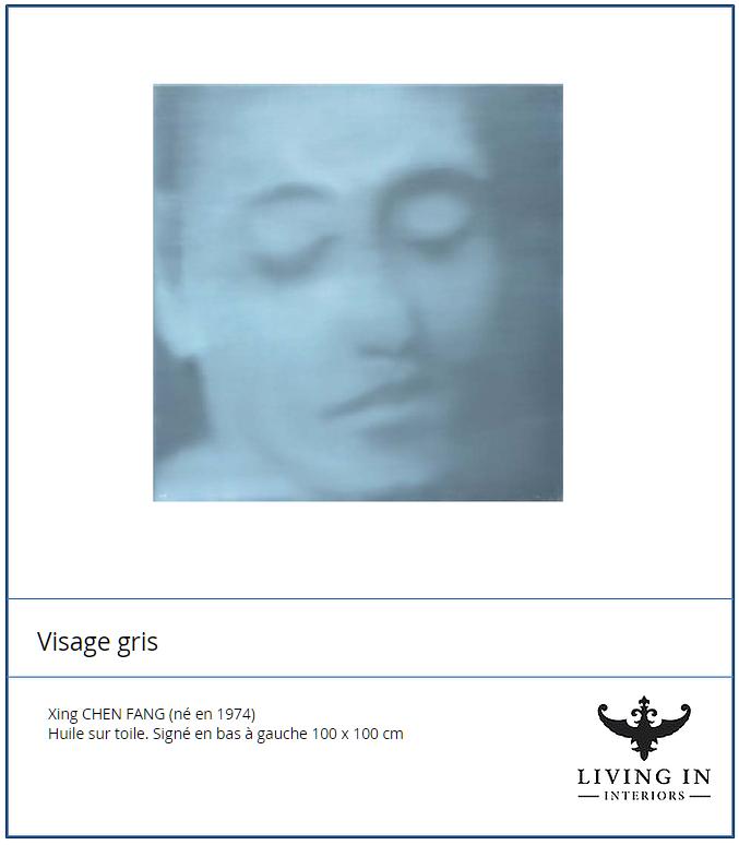 Visage Gris 01 - blue