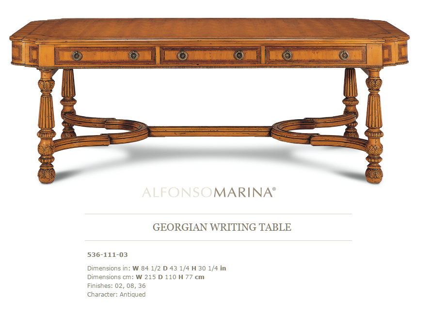 536-111-03 GEORGIAN WRITING TABLE