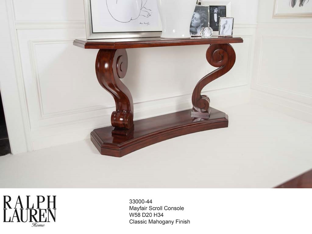 33000-44 MAYFAIR SCROLL CONSOLE