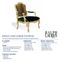 741-03 Indian Cove Lodge Fau teuil