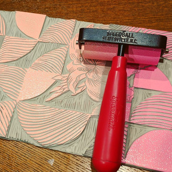 water canna inked in pink ombre