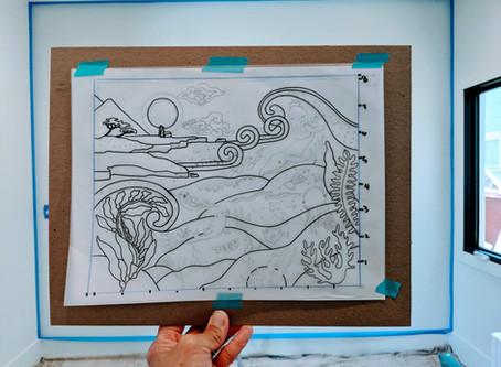 Ocean Mural for Baby Lua