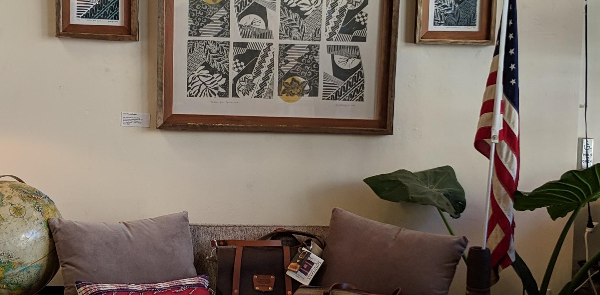 Batik Sun Series wall