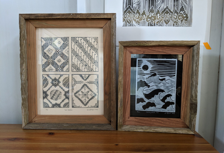 """""""Four Batiks"""" and """"Rolling Waves, Sun"""""""
