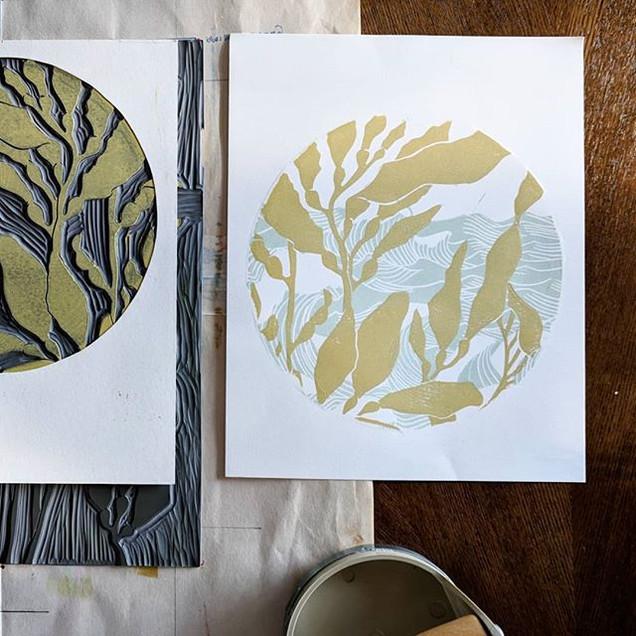 Mix & Matching Linocuts and masking them