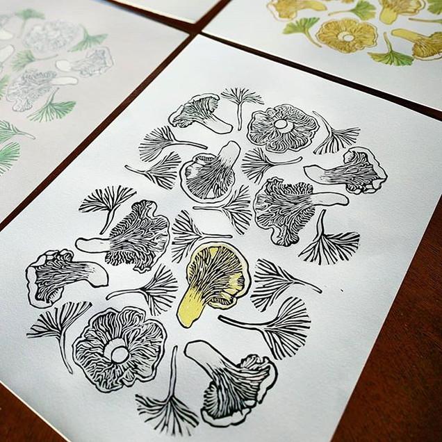 Mushroom Relief Prints for Mushroom Mont