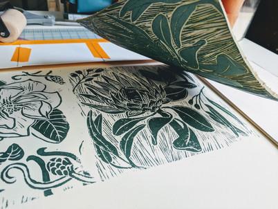 making of the Floral Batik Pattern print