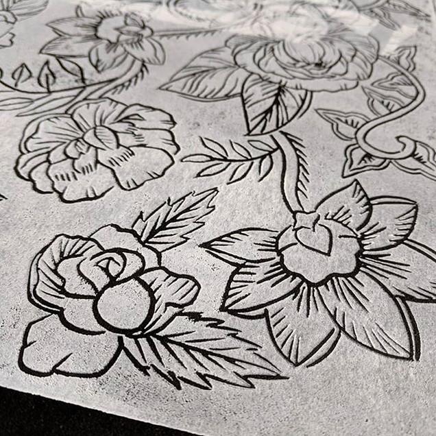 My Batik relief block design mixes some