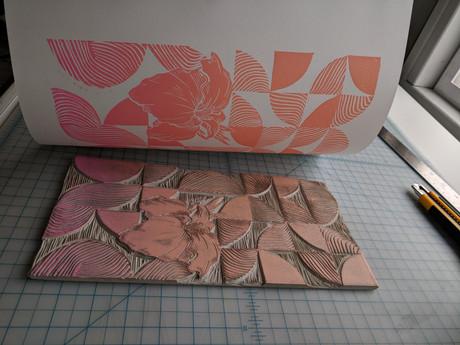 water canna print in progress