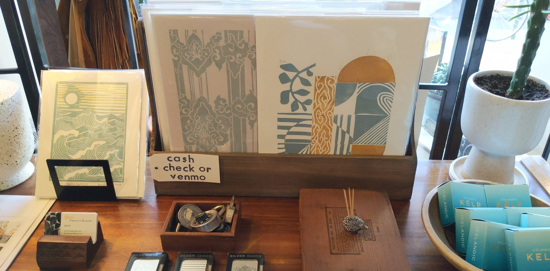 Unframed prints corner