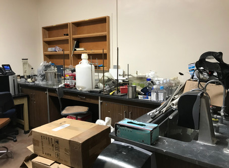Moving in and setting up the lab!