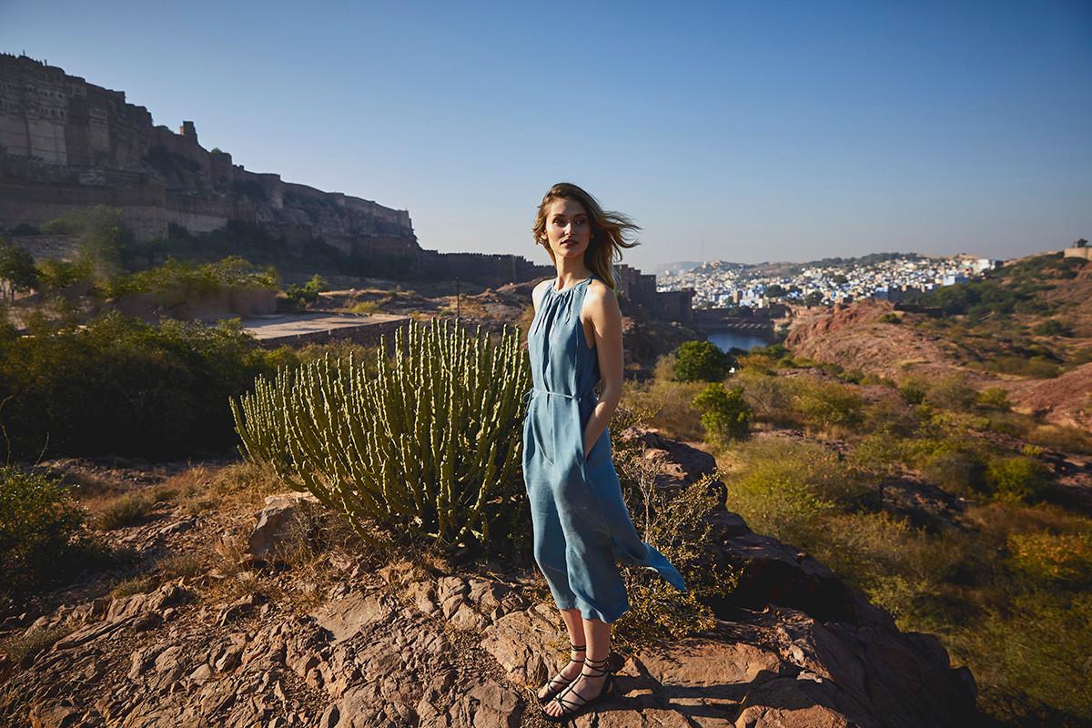 MATT Sommer JCsophie Kleid blaues langes Kleid