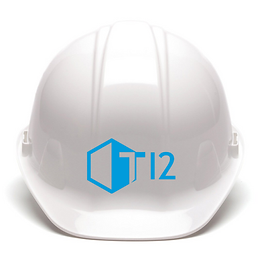 T Twelve Blue Hard Hat