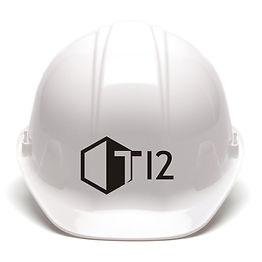 T Twelve Black Hard Hat