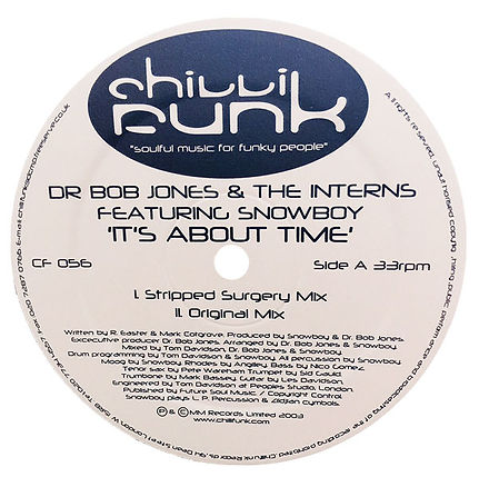 It's About Time - DR Bob Jones and The Interns featuring Snowboy