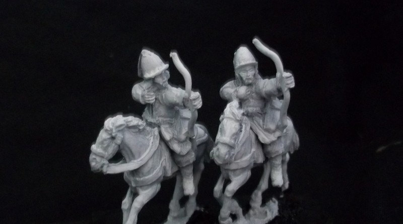 AH19 Heavy Cavalry with bow, Tall helmets Korean / Ming Chinese