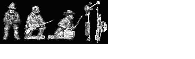 SAW9 Colt MG Team Firing [3 Figures and MG]