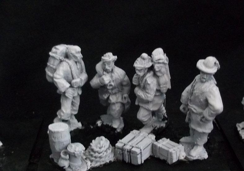 AH28 Selection of Porters / Civilians