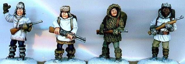 MP 03 Four Mounties in Winter Gear