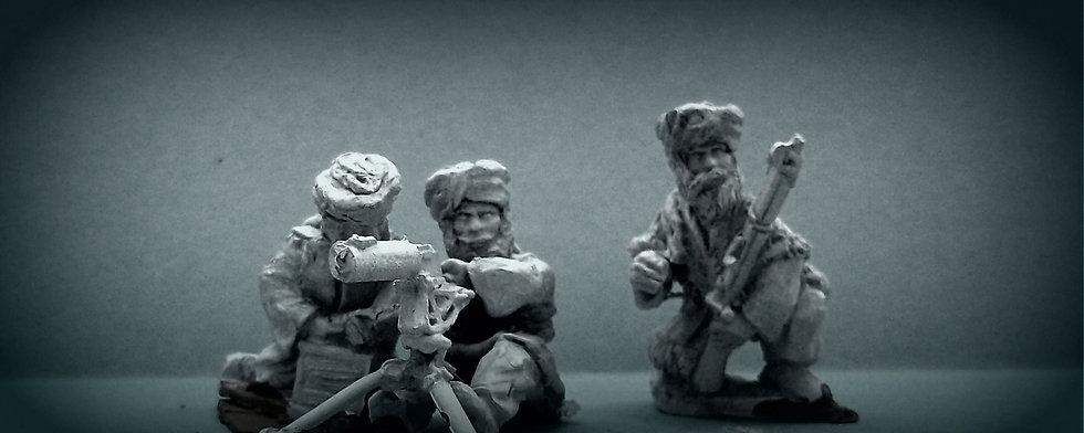 NWF 22 Afghan tribesmen with an M/G
