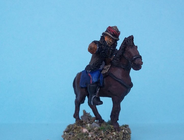 BC34 Mounted British officer pointing