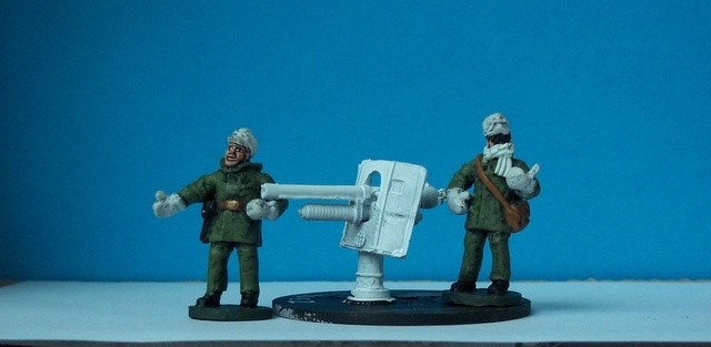 ICE2 Navy deck mounted gun and two crew