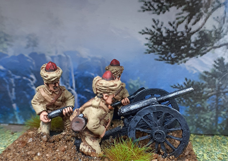 BC 26 Indian Mountain gun and crew