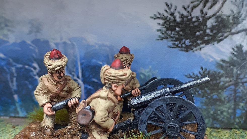 BC 26 Indian Mountain gun and crew