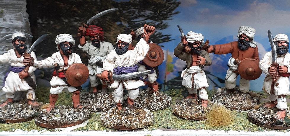 NWF 01 Hill Tribes with Melee weapons