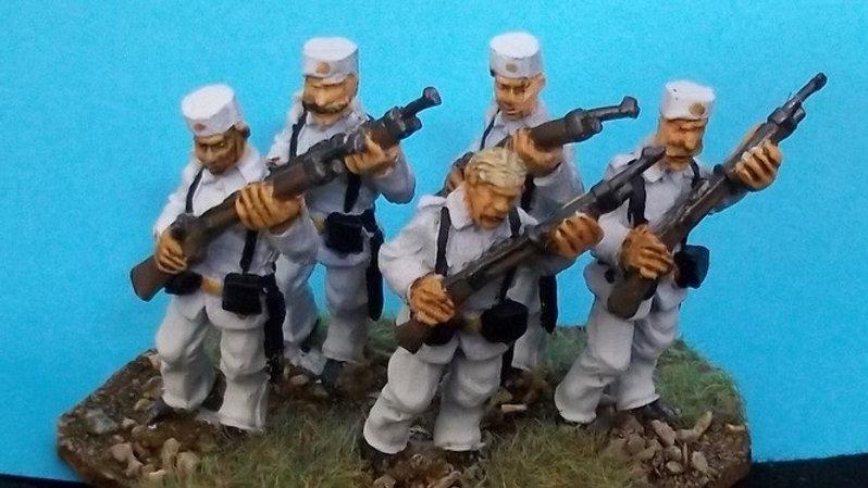 SAW57 Spanish Marines Advancing