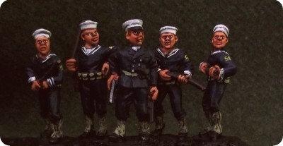 SP03 Shore Patrol. Five figures with battons