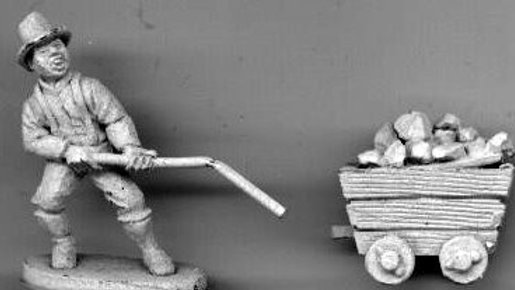 MP 18 Miner Pulling Mine cart