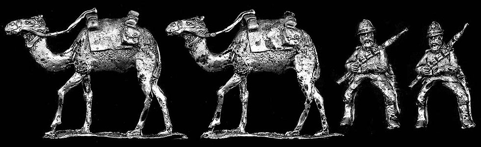 GC16 Mounted Colonial Infantry in Sun helmets onCamels