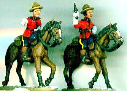 mp 06 Two Mounties on Horseback in Classic Uniform