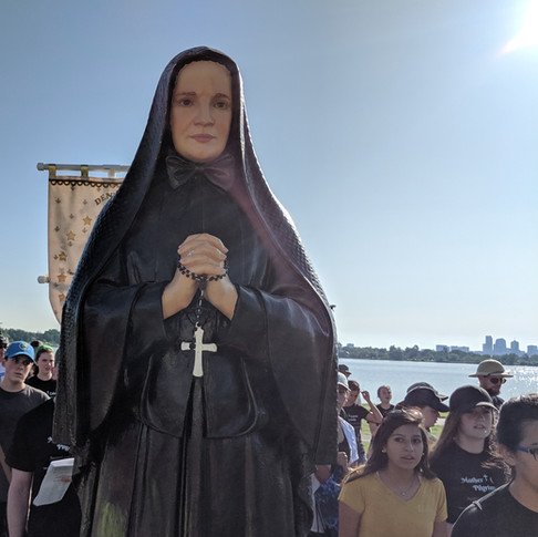 Maybe it was just me, but Mother Cabrini seemed to smile more the closer we got to her shrine