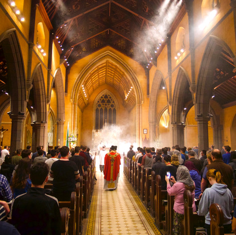Our first mass on Friday Morning at Saint Patrick's Cathedral in Ballarat
