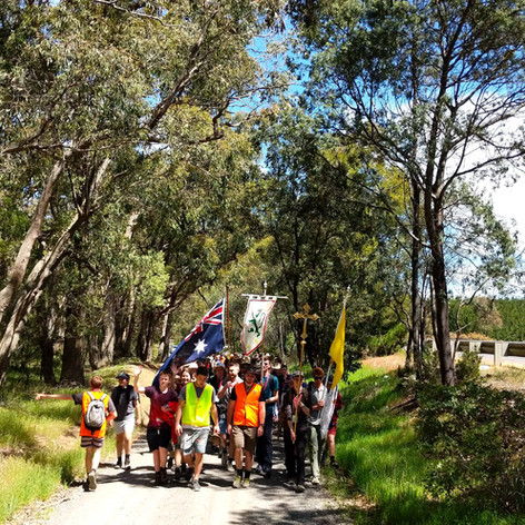 The Australian bush is a great setting for a pilgrimage.