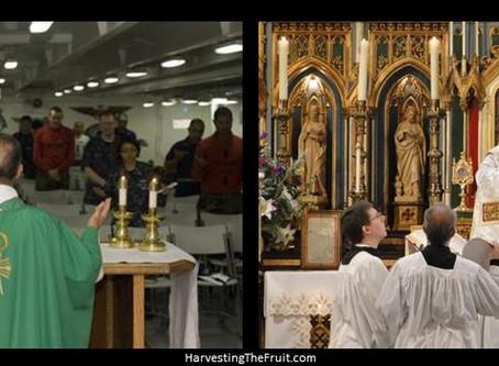 Novus Ordo vs Traditional Latin Mass in North and Central America