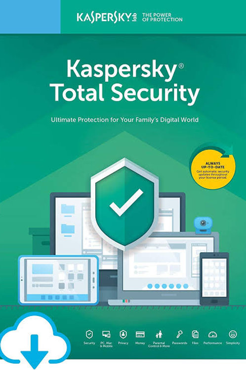 Kasperksy Total Security 1 Device 1 User