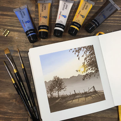 Ruth Wilshaw artwork misty sunrise