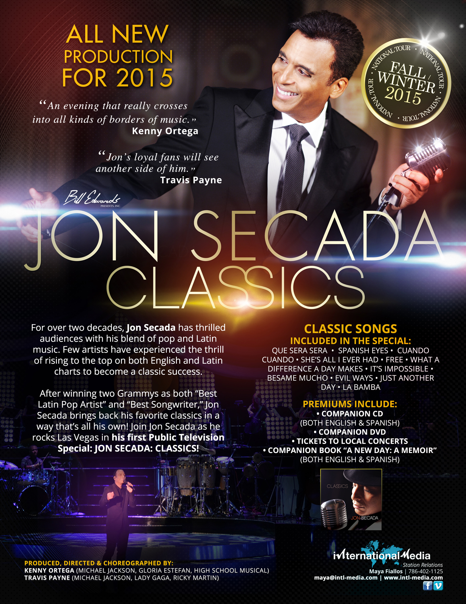 JON SECADA One-Sheet